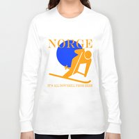 norway Long Sleeve T-shirts featuring Norway by rita rose