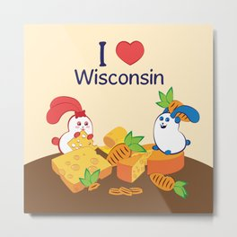 Ernest and Coraline | I love Wisconsin Metal Print