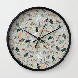 Marble Cats Wall Clock