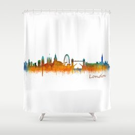 London City Skyline HQ v3 Shower Curtain