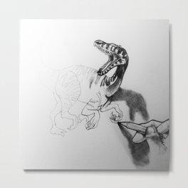 Dinosaur 3D Metal Print