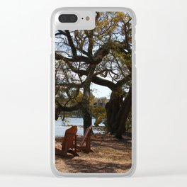 Peace By The Creek Clear iPhone Case