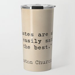 Winston S. Churchill 25 quote Travel Mug