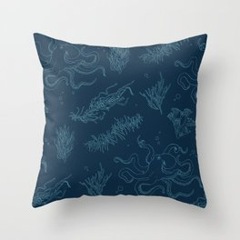 Seaweed Graphics Octopus Throw Pillow