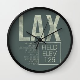 LAX II Wall Clock