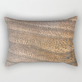Warm Waved Wood Rectangular Pillow