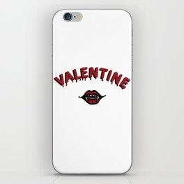 Vamp Valentine iPhone Skin