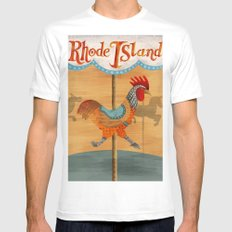 Rhode Island Mens Fitted Tee MEDIUM White