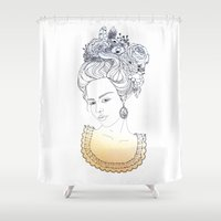 marie antoinette Shower Curtains featuring Marie Antoinette by Diana Todorova