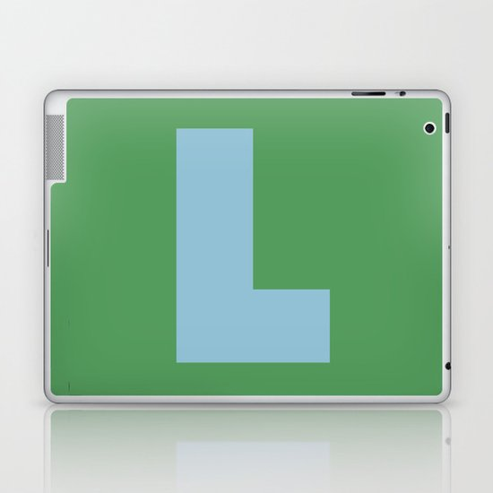 Light Blue L Laptop & iPad Skin