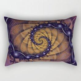 An Emperor Scorpion's 1001 Fractal Spiral Stingers Rectangular Pillow