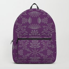 Thistle Outline on Purple Backpack