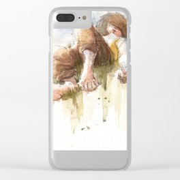 Countryside Nap Clear iPhone Case