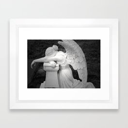 crying angel Framed Art Print