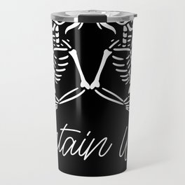 Contains Whiskey Men Barrel Travel Mug