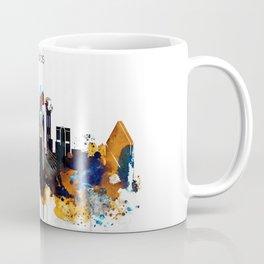 Dallas Texas watercolor print skyline Coffee Mug