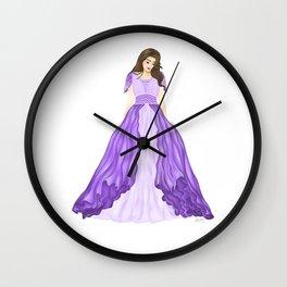 The Purple Dress Wall Clock