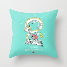 Dragon Hunter Throw Pillow