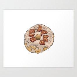 Maple Bacon Doughnut / Donut Art Print