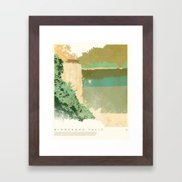 Minnehaha Falls - Minneapolis, MN Framed Art Print