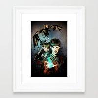 merlin Framed Art Prints featuring Merlin by Miriam Soriano