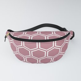 Dusty pink and white honeycomb pattern Fanny Pack