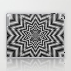 Optically Challenging Star in Black and White Laptop & iPad Skin