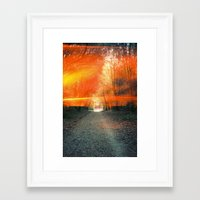 oakland Framed Art Prints featuring Oakland Hills by manfreckles