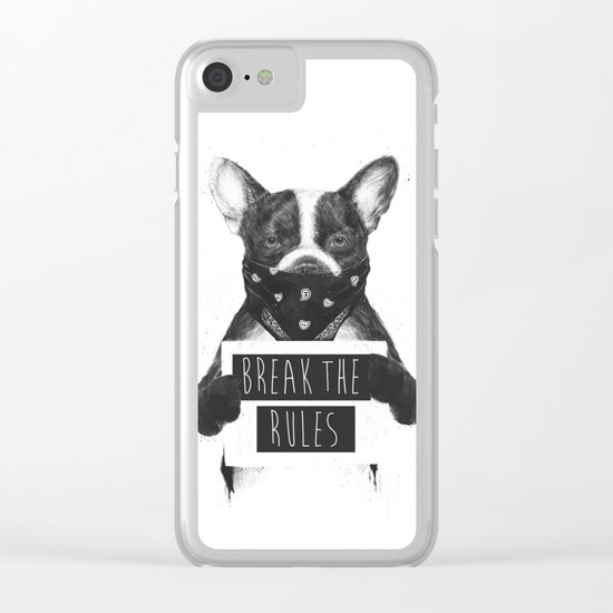 Rebel dog Clear iPhone Case