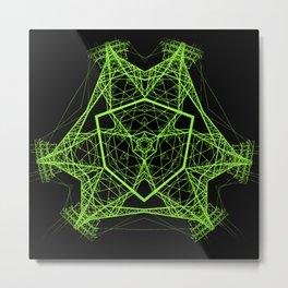 Electro mandala 2 Metal Print