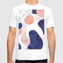Terrazzo galaxy pink blue white T-shirt