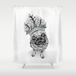 Indian Pug Shower Curtain
