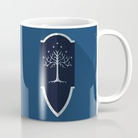 lotr Mugs featuring Shield of Gondor by DWatson