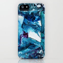Faces in blue iPhone Case