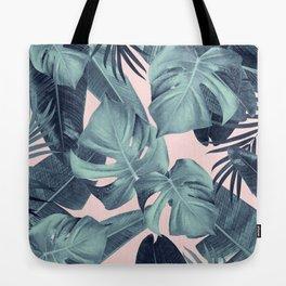 Tropical Summer Jungle Leaves Dream #3 #tropical #decor #art #society6 Tote Bag