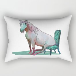 animals in chairs #22 The Unicorn Rectangular Pillow