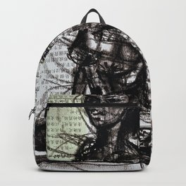 Sunset, Girl, Woman, Drawing Backpack