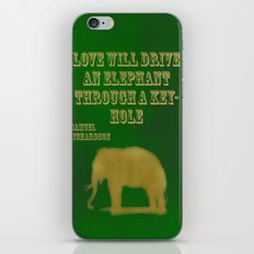 Elephant Love iPhone & iPod Skin