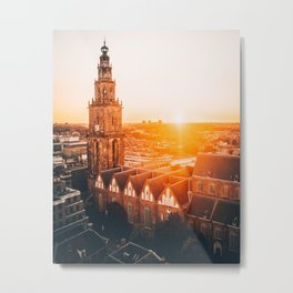 Martini tower Groningen The Netherlands Metal Print