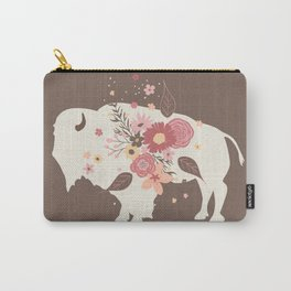 Floral Buffalo Carry-All Pouch