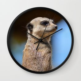 Meerkat at Peak Wildlife Park Wall Clock