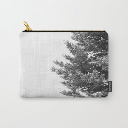 B&W Spruce Branches Carry-All Pouch