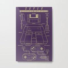 Super Entertainment System (dark) Metal Print
