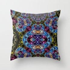 BBQSHOES: Fractal Design 1020C Digital Psychedelic Art Throw Pillow