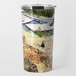 Mayflower Gold Ore Mill, on the Animas River above Silverton Travel Mug
