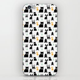 Woodland Animals Geometric iPhone Skin