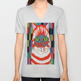 Bad Cattitude - Cats Unisex V-Neck