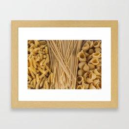 Different kind of pasta Framed Art Print