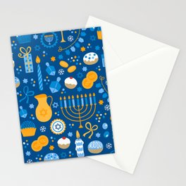 Hanukkah Happy Holidays Pattern Stationery Cards