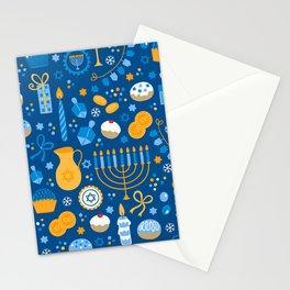 Hanukkah Happy Holidays Pattern Stationery Cards